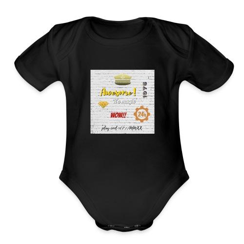 Magic Wall - Organic Short Sleeve Baby Bodysuit