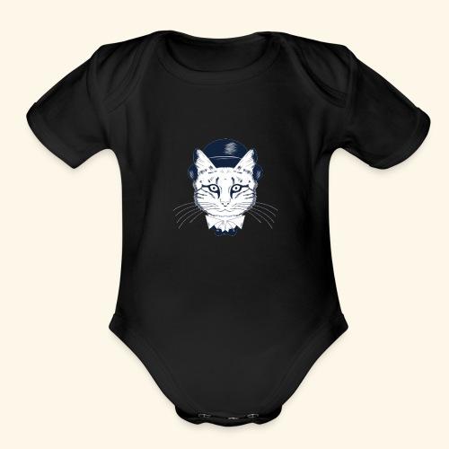 oie transparent 17 - Organic Short Sleeve Baby Bodysuit