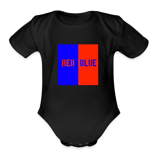 Red Blue Classic - Organic Short Sleeve Baby Bodysuit