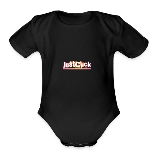 Just click - Organic Short Sleeve Baby Bodysuit