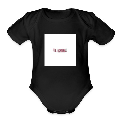 Lil icy merch - Organic Short Sleeve Baby Bodysuit