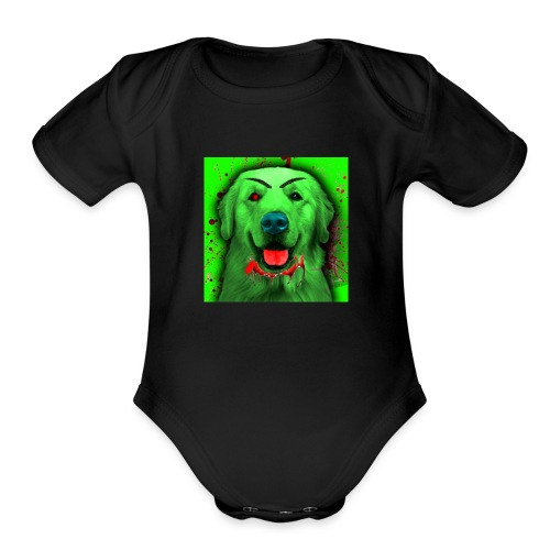 Zombie Dog Hoodie - Organic Short Sleeve Baby Bodysuit