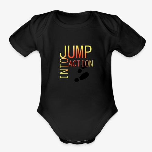 Jump into action - Organic Short Sleeve Baby Bodysuit