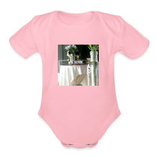 Spread the Love! - Organic Short Sleeve Baby Bodysuit