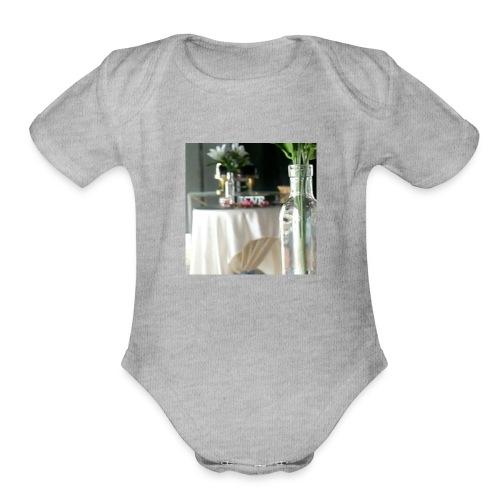 Spread the Love! - Organic Short Sleeve Baby Bodysuit