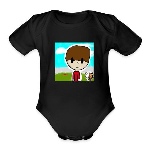 mlg123 - Organic Short Sleeve Baby Bodysuit