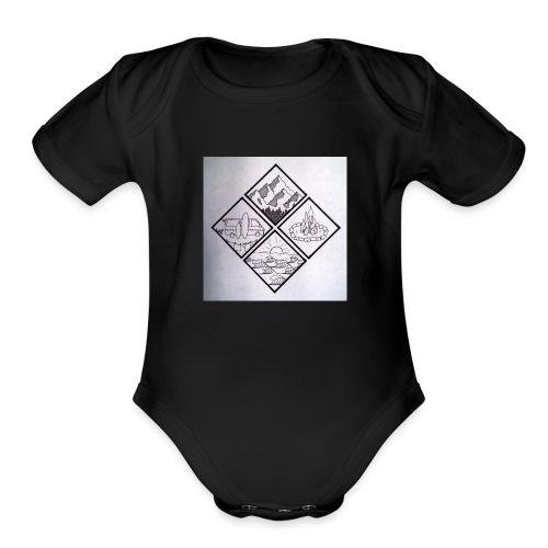 lifestyle - Organic Short Sleeve Baby Bodysuit