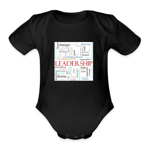 Leadership WORDLE - Organic Short Sleeve Baby Bodysuit