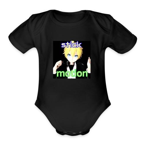 Stickmotion - Organic Short Sleeve Baby Bodysuit
