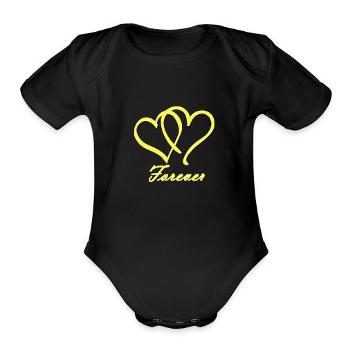 Love Forever - Organic Short Sleeve Baby Bodysuit