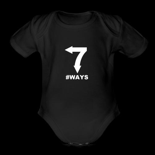 7 ways - Organic Short Sleeve Baby Bodysuit