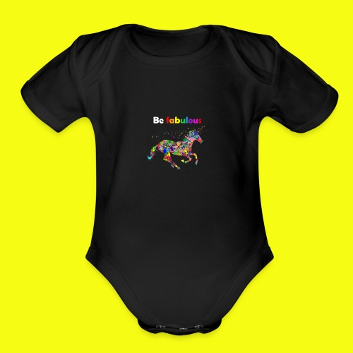 Fabulous unicorn perfect gift idea - Organic Short Sleeve Baby Bodysuit