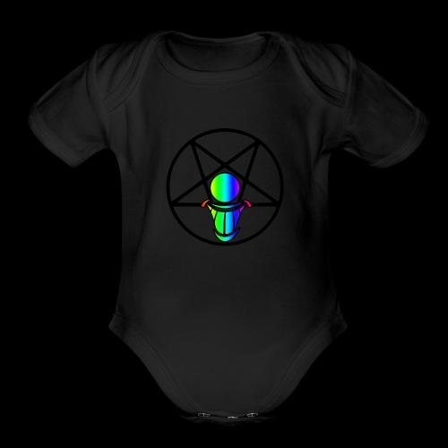 Pride Logo 3 - Organic Short Sleeve Baby Bodysuit