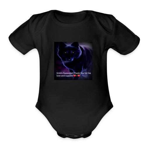 Grim's Supporter! ❤~❤ - Organic Short Sleeve Baby Bodysuit