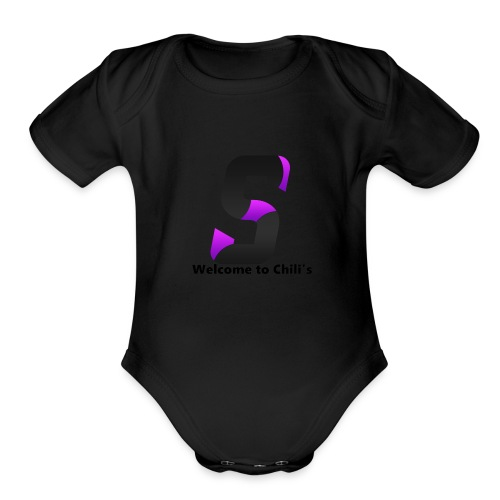 SYNIRR LOGO WELCOME TO CHILI'S - Organic Short Sleeve Baby Bodysuit