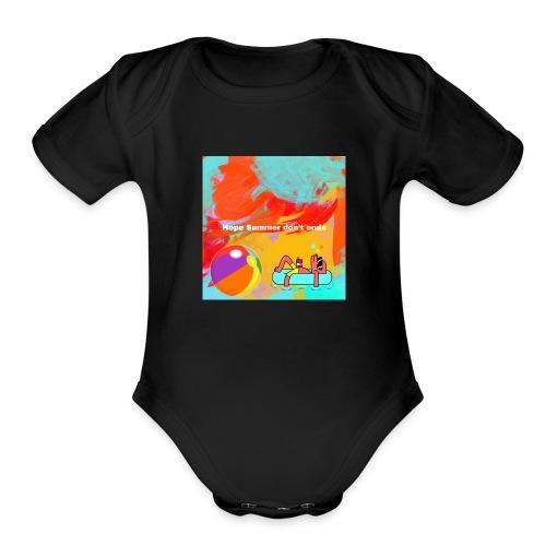 Hope summer don't ends - Organic Short Sleeve Baby Bodysuit