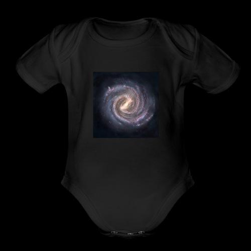 The Milky way - Organic Short Sleeve Baby Bodysuit