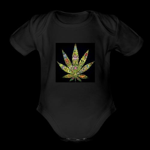 Marijuana - Organic Short Sleeve Baby Bodysuit