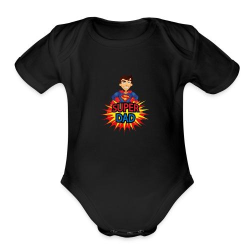 Super dad - Organic Short Sleeve Baby Bodysuit