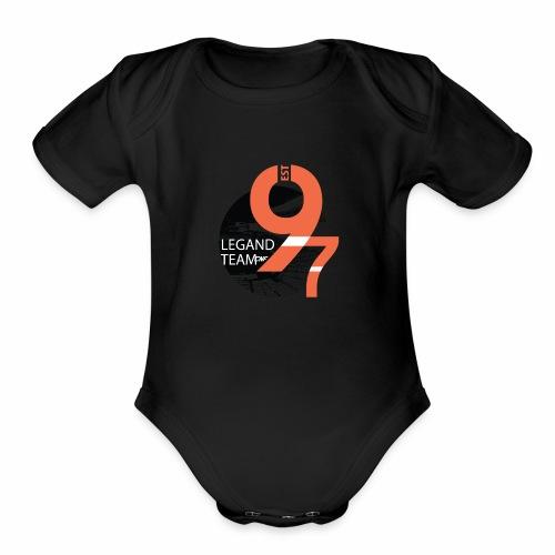 Baseball - Organic Short Sleeve Baby Bodysuit