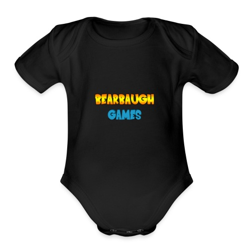 Bearbaugh Text Front - Organic Short Sleeve Baby Bodysuit