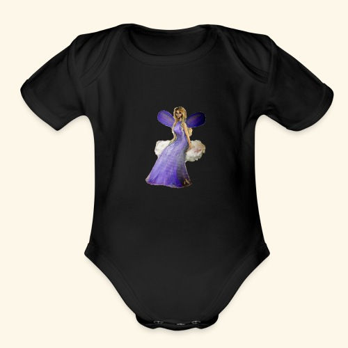 Ella, sky fairy - Organic Short Sleeve Baby Bodysuit