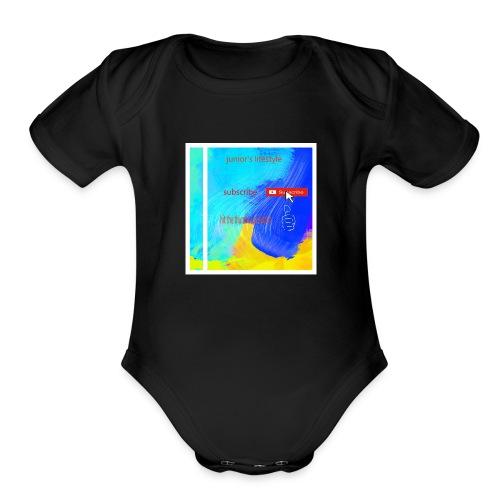 junior's lifestyle merch - Organic Short Sleeve Baby Bodysuit