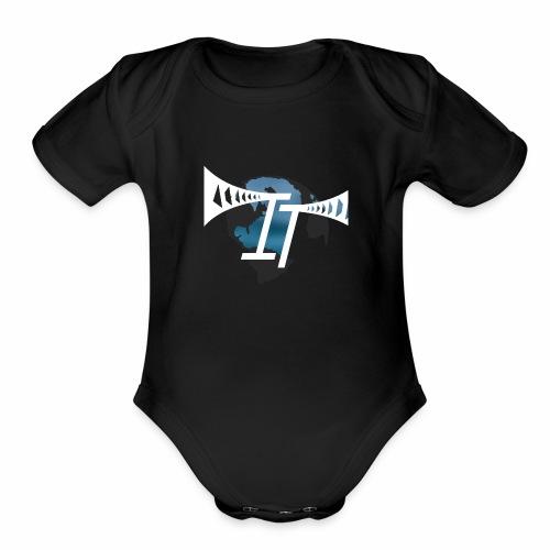 international thrills new logo - Organic Short Sleeve Baby Bodysuit