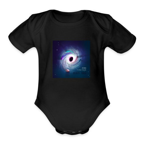Black Hole Cover Art Design - Organic Short Sleeve Baby Bodysuit