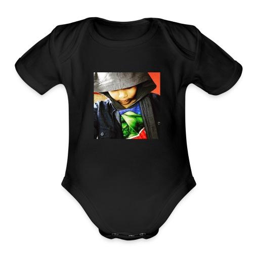 SamirHoddie - Organic Short Sleeve Baby Bodysuit