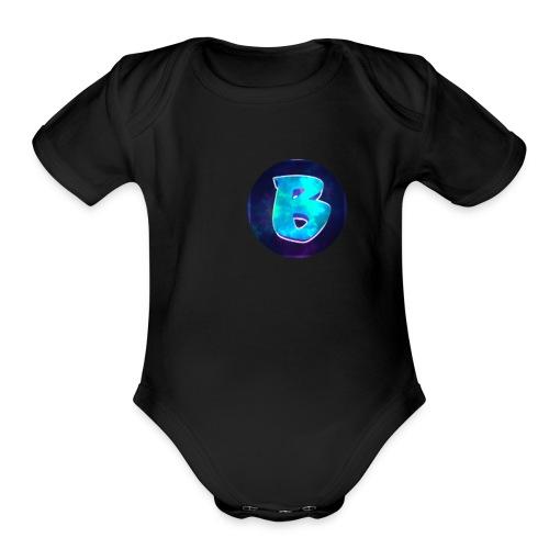 Circles Ben logo. - Organic Short Sleeve Baby Bodysuit