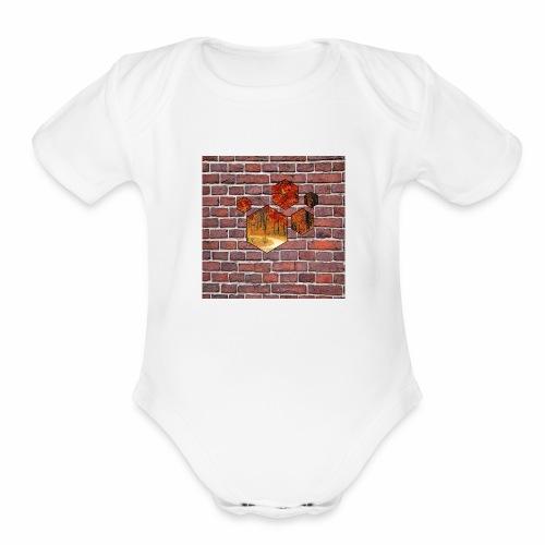 Wallart - Organic Short Sleeve Baby Bodysuit