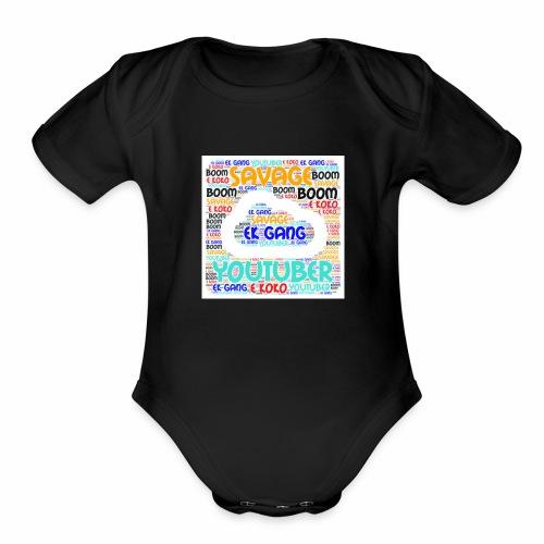 WORD MIX - Organic Short Sleeve Baby Bodysuit