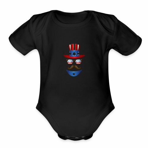 4th of July t-shirt USA independence day - Organic Short Sleeve Baby Bodysuit