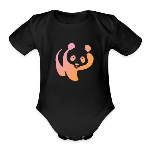 Hello Panda - Organic Short Sleeve Baby Bodysuit