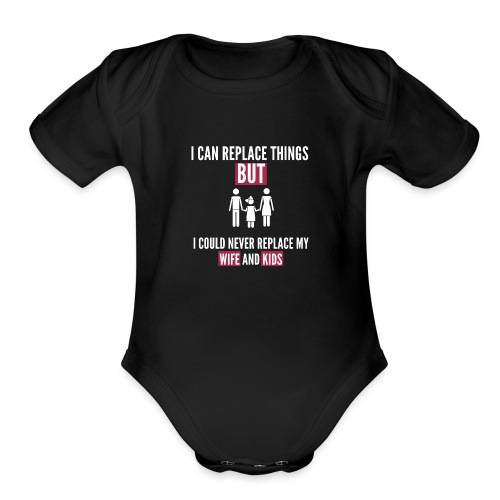 Family Love Quotes - Organic Short Sleeve Baby Bodysuit