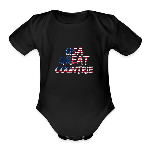 USA IS THE BEST - Organic Short Sleeve Baby Bodysuit