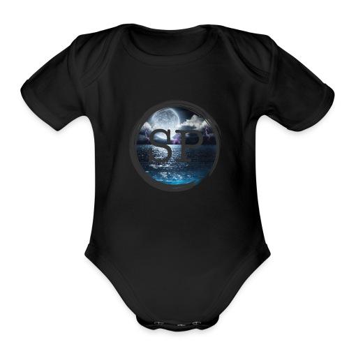 SHOCK PLAYZ WAVIES - Organic Short Sleeve Baby Bodysuit