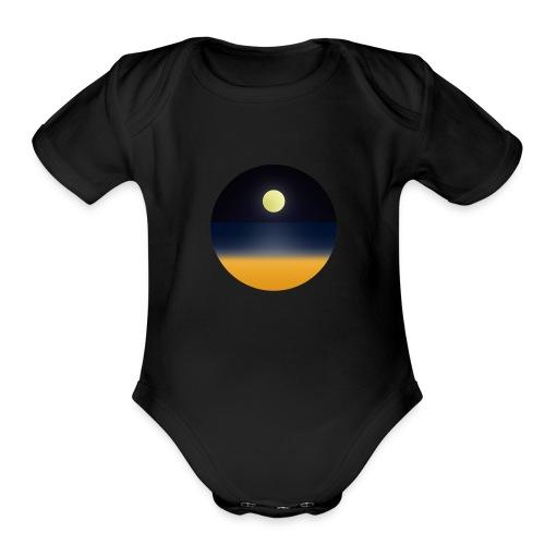 Beach Party - Organic Short Sleeve Baby Bodysuit