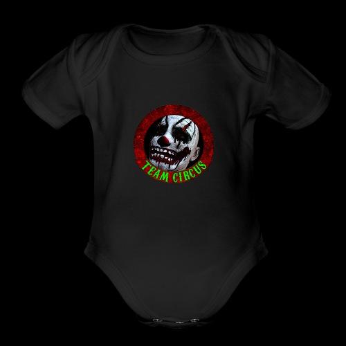 Team Circus Logo - Organic Short Sleeve Baby Bodysuit