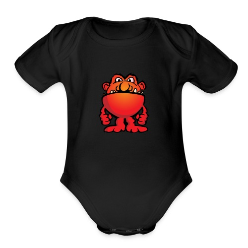 Cartoon Monster Alien - Organic Short Sleeve Baby Bodysuit
