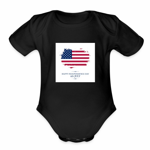 Independence Day IMG 0433 - Organic Short Sleeve Baby Bodysuit