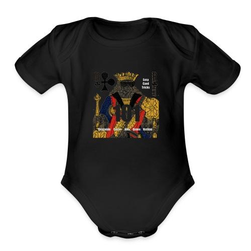 Easy Card Tricks 101 Logo - Organic Short Sleeve Baby Bodysuit