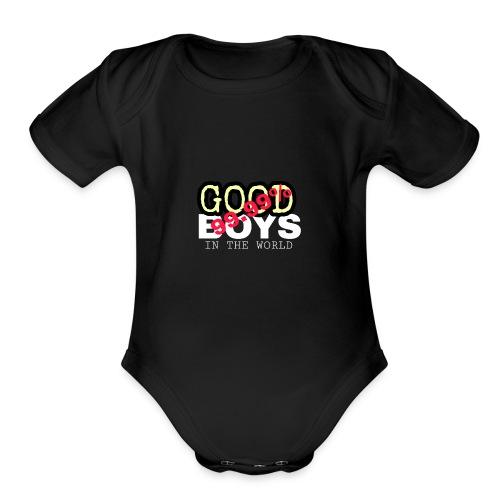 99.99% GOOD BOYS - Organic Short Sleeve Baby Bodysuit