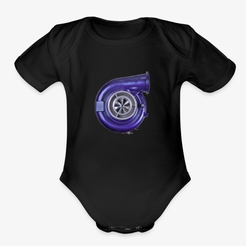 Blue Turbo Boost - Organic Short Sleeve Baby Bodysuit