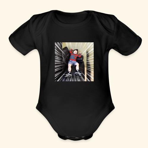 Lazy - Organic Short Sleeve Baby Bodysuit