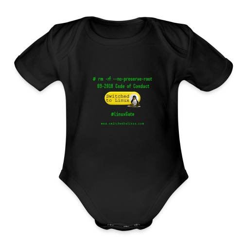 rm Linux Code of Conduct - Organic Short Sleeve Baby Bodysuit