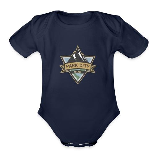 Park City, Utah - Organic Short Sleeve Baby Bodysuit