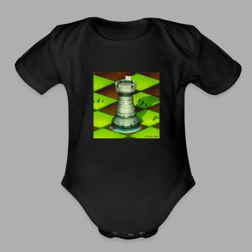 Lichess Castle - Organic Short Sleeve Baby Bodysuit