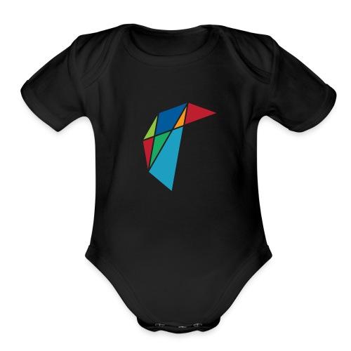 GLARE Logo - Organic Short Sleeve Baby Bodysuit